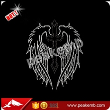 Wholesale Rhinestone Manufuture Iron on Wings Transfers for Clothing in China