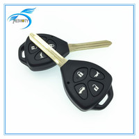 Remote control car key shell duplicate,the best price for toyota with 4 button
