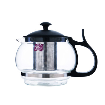 Cheapest price borosilicate glass teapot with stainless steel infuser glass tea pot sets