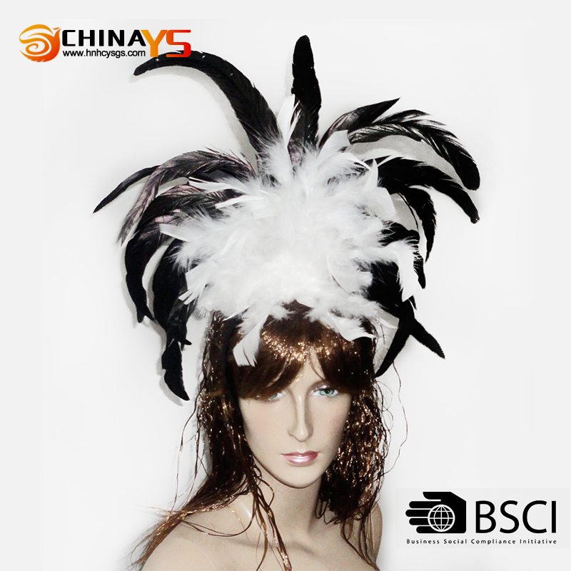 Natural best quality feather carnival headdress samba Party Personality decorations