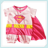 New Fashion Baby Boys Newborn Clothes Jumpsuit Cartoon Cotton superman Rompers Cute Superman Baby Girls Romper Baby Costume