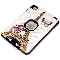 3in1 IMD Eiffel Tower Hybrid Hard Shockproof Phone Case For ipad mini