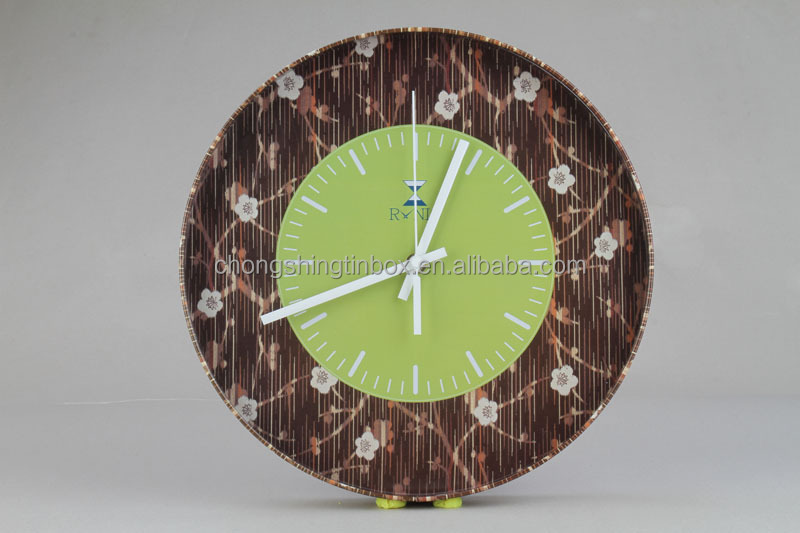 High Quality Promotion Gift Wall Clock tin box