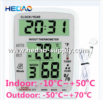 ABS Material Digital indoor outdoor thermometer in low price