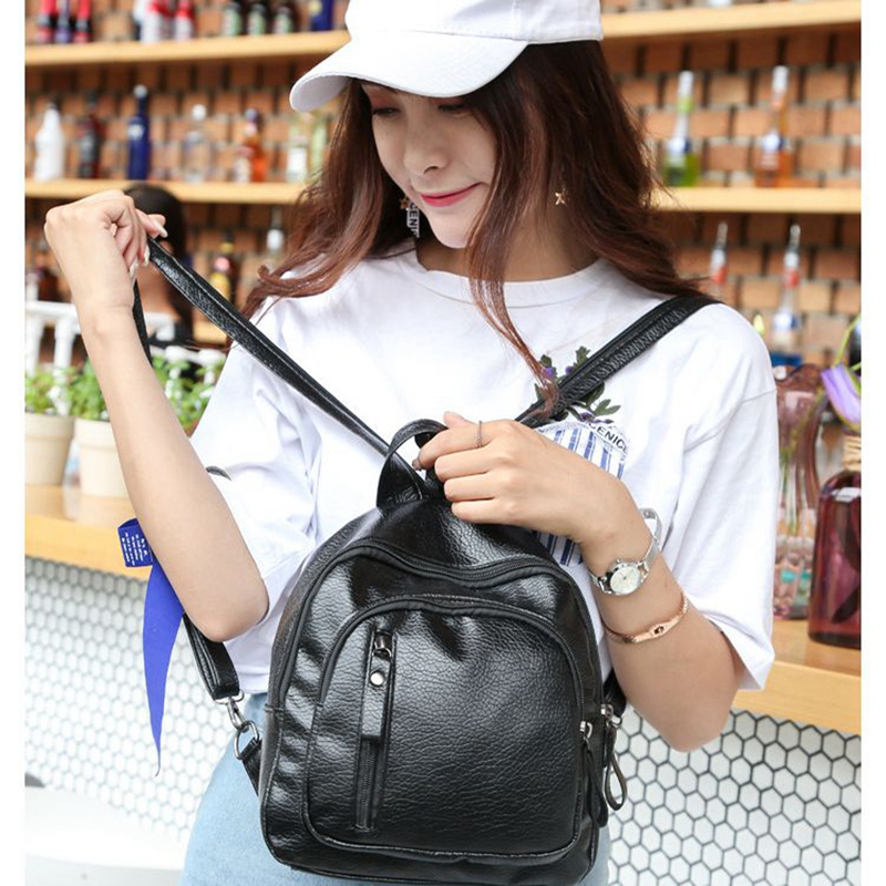 Classical Fashion Women Backpack High Quality Youth Leather Backpacks Leisure Teenage Girls Student School PU Leather Soft bag