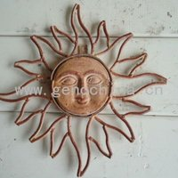 Outdoor Beautiful Rising Sun Garden Wall