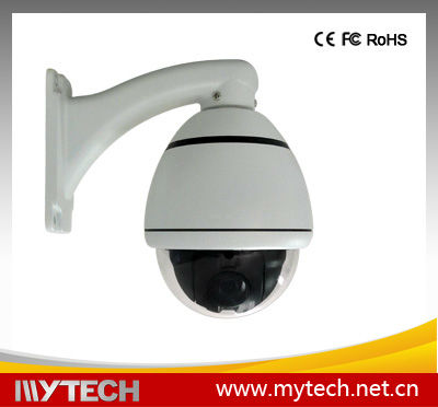 10X optical zoom, 10X digital zoom,Max 360/sec high speed Pan/Tilt motion,Provide keyboard shortcuts operation mini 650tvl