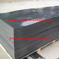 PE Material extruded black color HDPE sheet