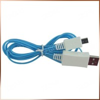 For Samsung Micro 1M LED Cable, Android Phone 5Pin LED Micro USB Charger
