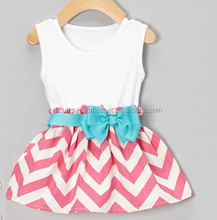 pink chevron bow dress little baby smocked frocks mayflower wholesale toddler princess dress