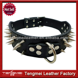 Spiked leather dog collars leather spiked collars for dogs