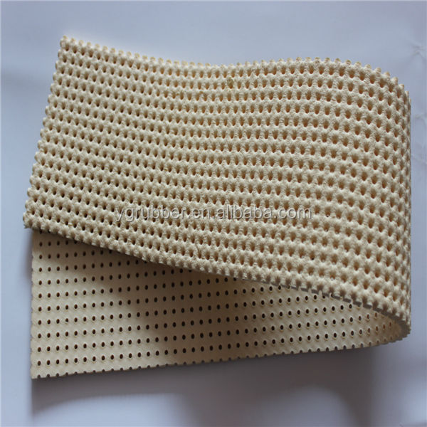 Silicone foam pad with holes