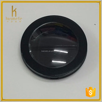 2016 matting black empty plastic transparent cap round air cushion compact case of cosmetic packaging