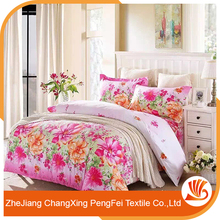 Elegant style full of modern flavor flower design bed sheet