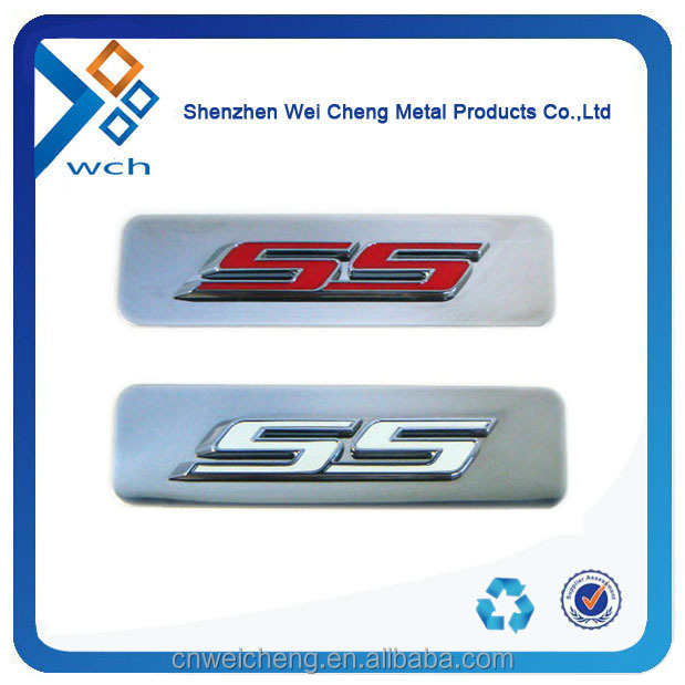 custom car logo metal label with 3M stickers