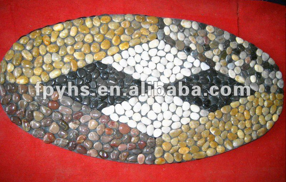 pretty river pebble stone door mat