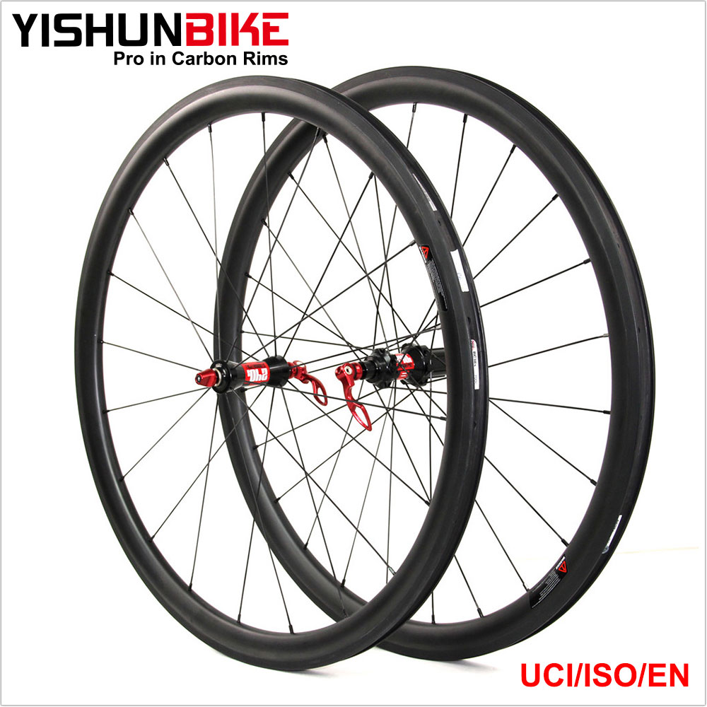 New 2017 YISHUNBIKE OEM Wheel Tire Suit for 700x25c 50mm Clincher Tubeless Wheels 240S-550C cx ray