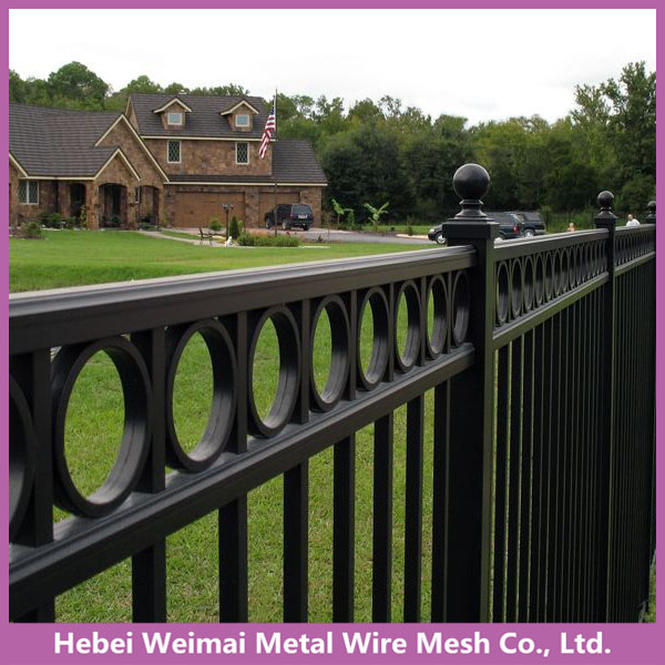 Cheap decorative galvanized iron house fence and gates