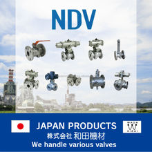 Manually operated 2way long stem type ball valve , made in japan