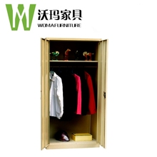 Durable bedroom dressing cupboard with double doors modern metal clothes cupboard China manufacturer