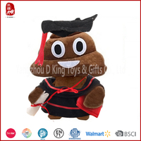 2015 New designed lovely yellow emoji pillow face doll for graduaion China Yangzhou supplier high quality