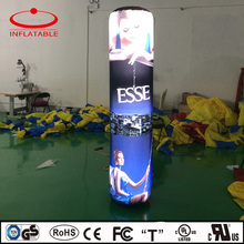 outdoor inflatable illuminated column for decoration, inflatable lighting cylinder