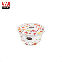 Haiice Attractive Price Waterproof Round shape Transparent Plastic Storage Lunch Plastic Box With Lid