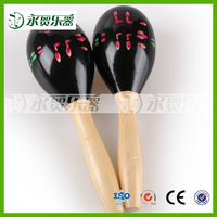 instrument mini maracas with modern paintings baby noise making toys
