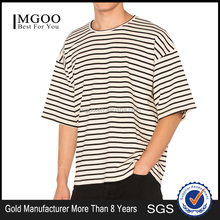 MGOO Customized Plus Size No Brand T-shirts High Quality 95% Cotton 5% Elastane Raglan Shoulder Stripe Tee Shirts For Men