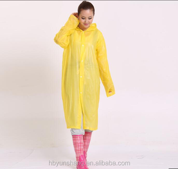 YunShang clear adult PVC rain poncho raincoat