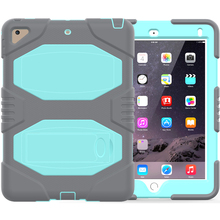 For iPad Case Shockproof Kickstand Silicone Case For iPad Air 2 Kids Cover
