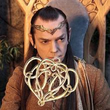 Zinc Based Alloy The Lord Of The Rings Elven King Elrond Heart Pendants Gold Plated 49mm x 47mm