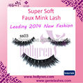 Super Long Dense Faux Mink Fur Strip Eyelashes from Qingdao Manufactuer
