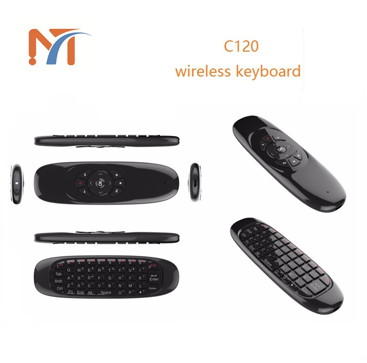 2017 Alibaba Stock Hot Air fly mouse C120 mini USB Remote Control C120 Wireless Keyboard for Android tv box and Mini PC