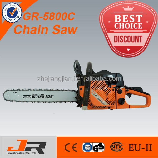 high quality gasoline 58cc chainsaw 5800/ chain saw 5800