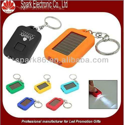LCD solar torch lamp promotional led light keychain