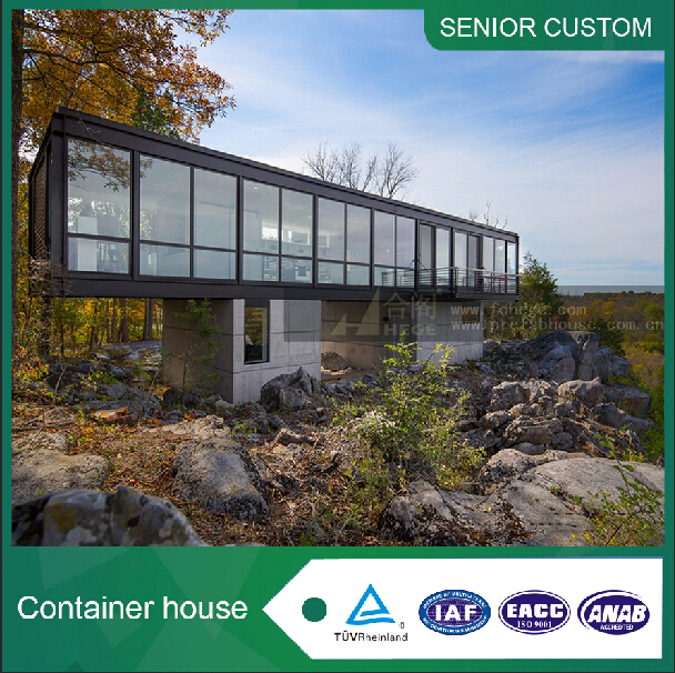 2017 European Australia, Lreland USA Canadian Prefabricated Ready Cheap Wooden Glass Container House For Vacation