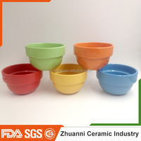 Wholesale solid color ceramic bowl,ceramic soup bowl