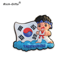 Custom Soft PVC Tourist Souvenir 3D Magnetic Sticker For Korea