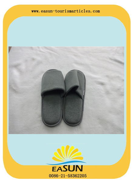 Anti-slip sole open toe custom disposable hotel slippers