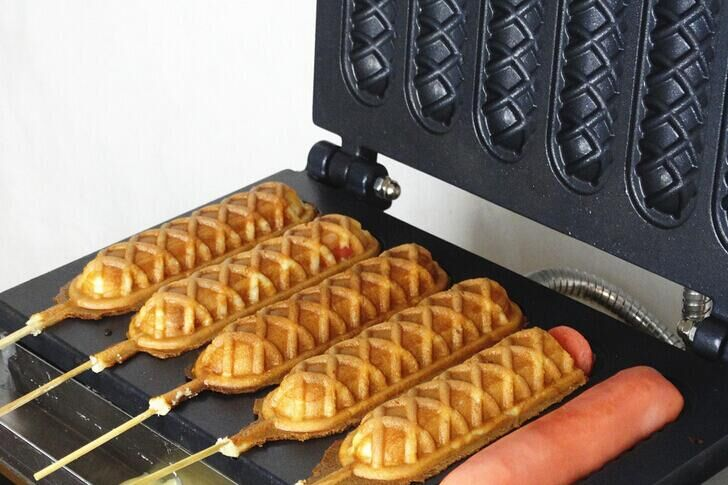 kommerziellen wurst maschine gas hot dog waffle maker. Black Bedroom Furniture Sets. Home Design Ideas