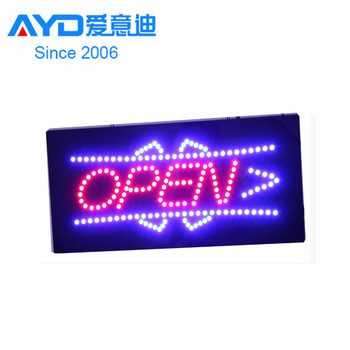 Sign in Alibaba Factory Price Acrylic LED Advertising Sign Custom LED Open Sign