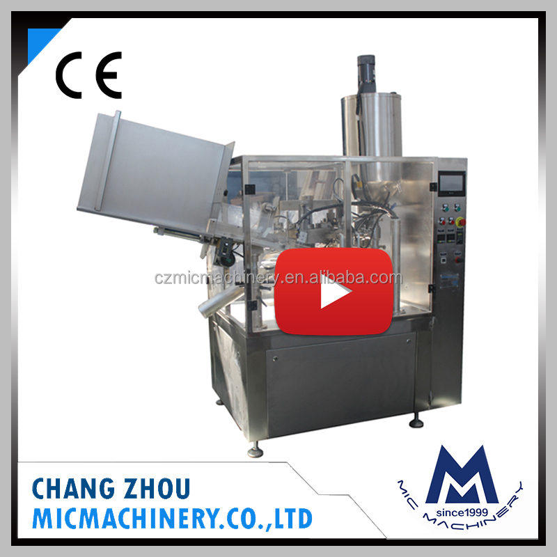 MICMachinery with Famous Brand soft tube automatic whipping cream filling machine