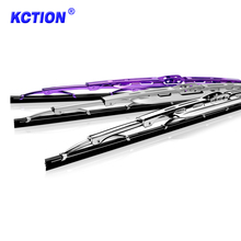 Car Frame Universal Colored Windshield Chromed Double Wiper Blades
