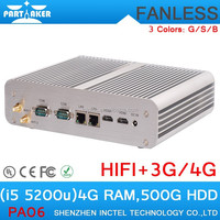 fanless min The 5th Generation i5 Intel Core I5 5200U linux mini pc