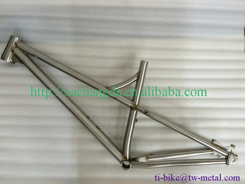 Titanium Fat Bike Frame with Welding Color Titanium Truss Fork Titanium Loop Handle Bar highly appraised by Customers
