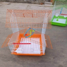 Beautiful cage bird for sale/Colorful Small Hanging Wire mesh bird cage with perch for canary and parrot