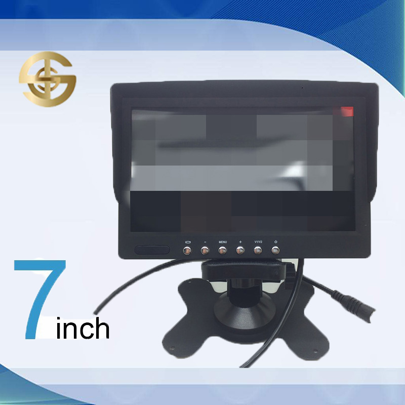 Sun visor Headrest 7 inch TFT LED car monitor with USB for rear view camera SJ-713