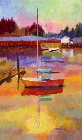 "Painting - ""The Red Sailboat"""