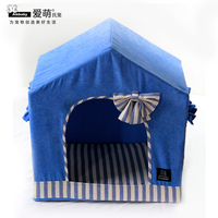 Pet products pet tent stripe warm dog house factory direct supply